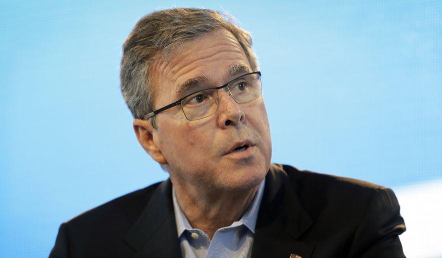 Former Florida Gov. Jeb Bush speaks during the Iowa Agriculture Summit, Saturday, March 7, 2015, in Des Moines, Iowa. (AP Photo/Charlie Neibergall)