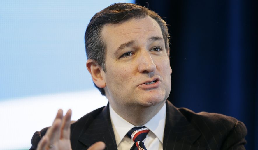 Sen. Ted Cruz, R-Texas, speaks during the Iowa Agriculture Summit, Saturday, March 7, 2015, in Des Moines, Iowa. (AP Photo/Charlie Neibergall) ** FILE **