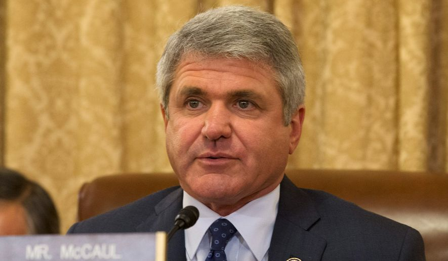 Rep. Michael T. McCaul, Texas Republican. (Associated Press) ** FILE **