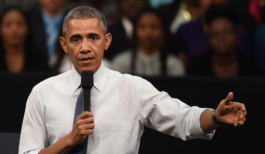 President Obama's request for authorization for use of military force against the Islamic State would expire three years after it is passed by Congress, while the November 2014 immigration move grants a reprieve from deportation and legal work permits to illegal immigrants for 36 months. (Associated Press)