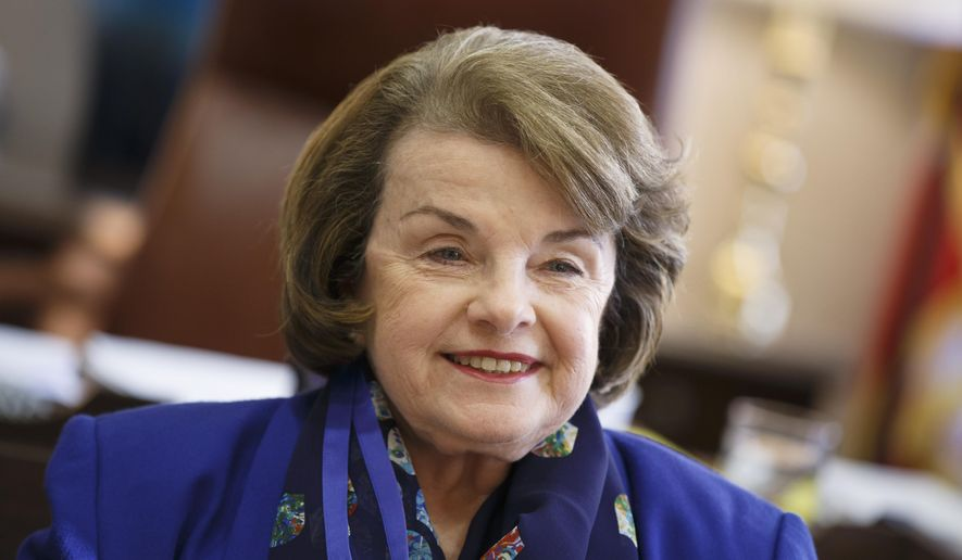 In this Feb. 11, 2015, photo, Sen. Dianne Feinstein, D-Calif., vice chair of the Intelligence Committee, speaks during an interview with The Associated about the CIA torture report, in her Capitol Hill office in Washington. In February 2009, the Senate Intelligence Committee gathered in a soundproof room to learn the stomach-churning details of the brutal interrogations the CIA conducted with its first important al-Qaida prisoners. The resulting report, a summary of which was released in December, was a rare instance of an oversight committee seeking to hold the CIA accountable in a public way. (AP Photo/J. Scott Applewhite)