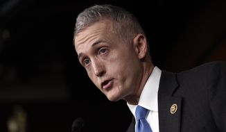 House Select Committee on Benghazi Chairman Rep. Trey Gowdy, R-S.C. speaks at a news conference on Capitol Hill in Washington, Tuesday, March 3, 2015, about former Secretary of State Hillary Rodham Clinton using her personal email account for official business. (AP Photo/Susan Walsh) ** FILE **