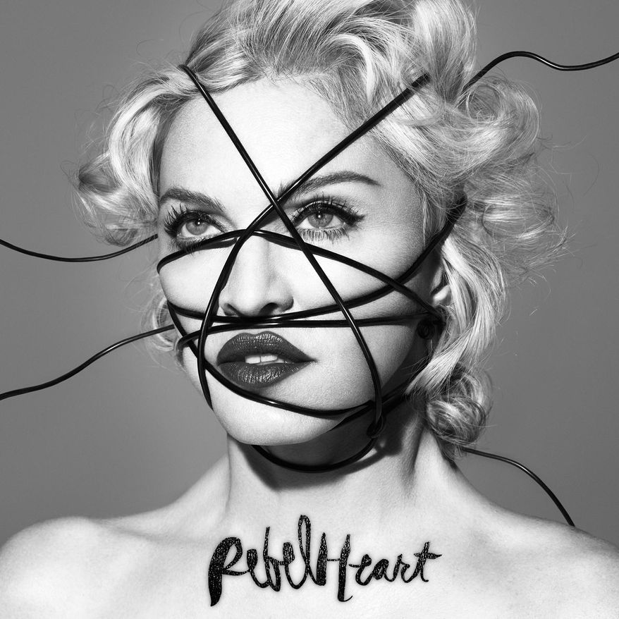 """This CD cover image released by Interscope Records shows """"Rebel Heart,"""" the latest release by Madonna. (AP Photo/Interscope Records)"""