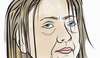 Illustration on general dislike for Hillary Clinton by Linas Garsys/The Washington Times