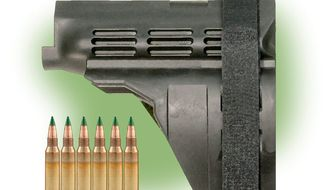 Green tipped M855 ammunition and an SIG brace    The Washington Times