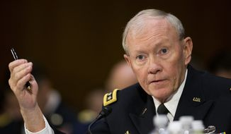 Joint Chief Chairman Gen. Martin Dempsey testifies on Capitol Hill in Washington, Wednesday, March 11, 2015, before the Senate Foreign Relation Committee. (AP Photo/Pablo Martinez Monsivais) ** FILE **