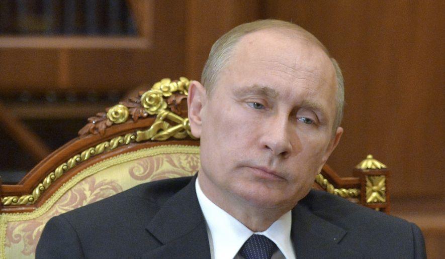 Russian President Vladimir Putin (AP Photo/RIA-Novosti, Alexei Druzhinin, Presidential Press Service) ** FILE **