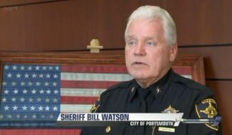 Portsmouth, Virginia, Sheriff Bill Watson is outraged after judges told him he couldn't hang an American flag display donated by a group of firefighters in the county courthouse lobby. (WTKR)