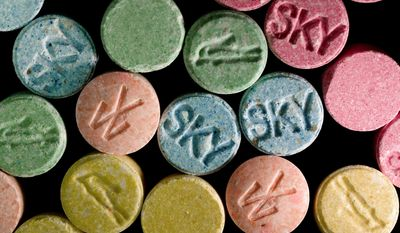 [u'Ecstasy pills, which contain MDMA as their main chemical, are pictured in this undated handout photo courtesy of the United States Drug Enforcement Administration (DEA). Molly is the street name for a drug that is commonly believed to be the pure powder form of the banned substance known as MDMA, the main chemical in ecstasy. REUTERS/U.S. DEA/Handout via Reuters  (UNITED STATES - Tags: DRUGS SOCIETY CRIME LAW) ATTENTION EDITORS \xe2\x80\x93 THIS IMAGE WAS PROVIDED BY A THIRD PARTY. FOR EDITORIAL USE ONLY. NOT FOR SALE FOR MARKETING OR ADVERTISING CAMPAIGNS. THIS PICTURE IS DISTRIBUTED EXACTLY AS RECEIVED BY REUTERS, AS A SERVICE TO CLIENTS', u'Ecstasy pills, which contain MDMA as their main chemical, are pictured in this undated handout photo courtesy of the United States Drug Enforcement Administration (DEA). Molly is the street name for a drug that is commonly believed to be the pure powder form of the banned substance known as MDMA, the main chemical in ecstasy. REUTERS/U.S. DEA/Handout via Reuters  (UNITED STATES - Tags: DRUGS SOCIETY CRIME LAW) ATTENTION EDITORS \x96 THIS IMAGE WAS PROVIDED BY A THIRD PARTY. FOR EDITORIAL USE ONLY. NOT FOR SALE FOR MARKETING OR ADVERTISING CAMPAIGNS. THIS PICTURE IS DISTRIBUTED EXACTLY AS RECEIVED BY REUTERS, AS A SERVICE TO CLIENTS']