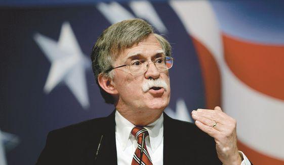 Former U.N. Ambassador John Bolton (Associated Press) **FILE**