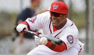 Wilmer Difo is making a positive impression at Nationals spring training. (AP photo)