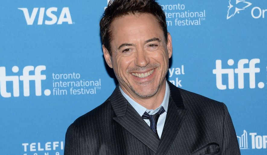 "Actor Robert Downey Jr. participates in ""The Judge"" photo call and press conference during the 2014 Toronto International Film Festival in Toronto on Sept. 5, 2014. (Evan Agostini/Invision/Associated Press) **FILE**"