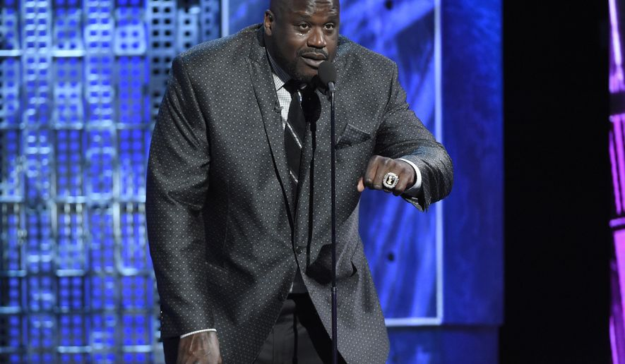 Shaquille O'Neal speaks at the Comedy Central Roast of Justin Bieber at Sony Pictures Studios on Saturday, March 14, 2015, in Culver City, Calif. On June 24, 2016, the U.S. State Department announced the basketball legend has been named a special envoy to Cuba. (Photo by Chris Pizzello/Invision/AP)