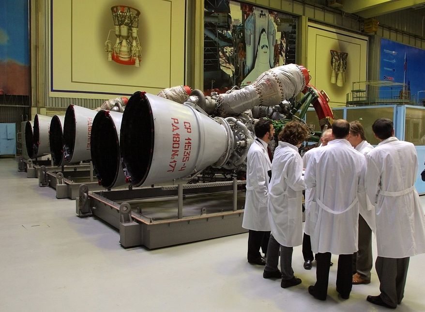 The Senate Armed Services Committee criticized the Air Force for not moving briskly enough away from older Russian rocket engines, a move many see as politically retaliatory for Moscow's actions in Ukraine. (Associated Press)