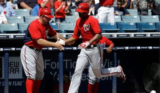 Nationals rookie Michael Taylor (right) has the chance to start in center field on Opening Day with Denard Span injured. (Associated Press)