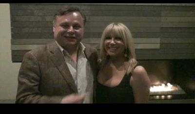 Rusty Humphries and Suzanne Somers.