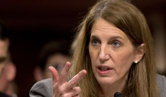 Health and Human Services Secretary Sylvia Burwell testifies on Capitol Hill in Washington. **FILE**