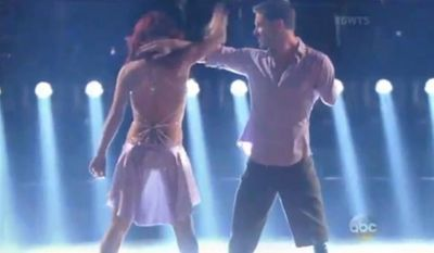 "Iraq War veteran and double amputee Noah Galloway blew away the judges Monday night on the season 20 premiere of ABC's ""Dancing With the Stars,"" after dancing a cha cha with troupe member Sharna Burgess. (ABC via CNS News)"