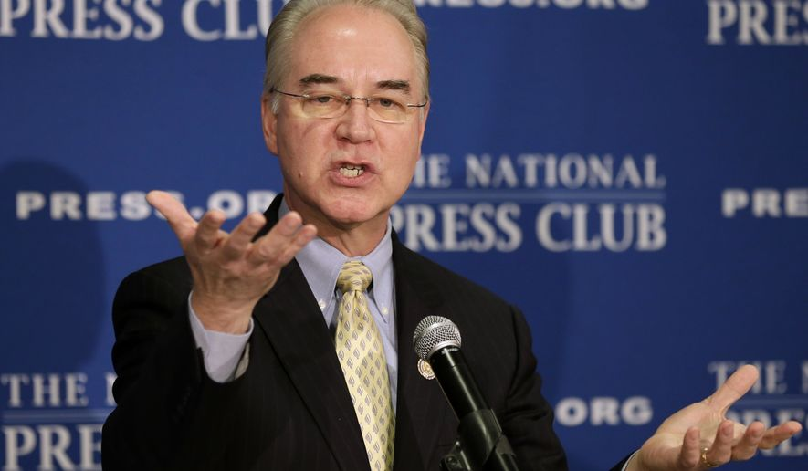 House Committee on the Budget Chairman Tom Price, Georgia Republican (Associated Press) **FILE**