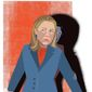 Illustration on Hillary's emails and secret intel operations by Linas Garsys/The Washington Times