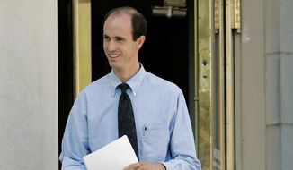Seth Jeffs, brother of imprisoned sect leader Warren Jeffs, leader of the Fundamentalist Church of Jesus Christ of Latter Day Saints, exits the Tom Green County courthouse in San Angelo, Texas, on May 20, 2008. Mr. Jeffs has told the state of South Dakota that members of the FLDS need more water for gardens, orchards and animal herds at the group's ranch in the Black Hills near Pringle, S.D., prompting concern by neighbors and law enforcement about a possible influx of members who are being displaced from a compound on the Utah- Arizona border. (AP Photo/Tony Gutierrez, File)
