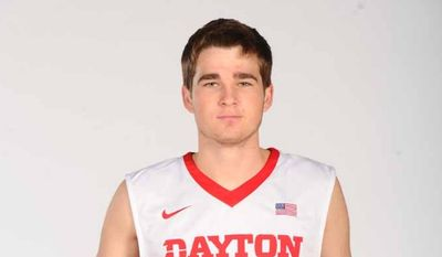 Dayton Flyers guard Joey Gruden, a 6-foot-2, 163-pound sophomore, is the son of Washington Redskins coach Jay Gruden and the nephew of former NFL coach and current ESPN broadcaster Jon Gruden. (Courtesy of University of Dayton athletics)