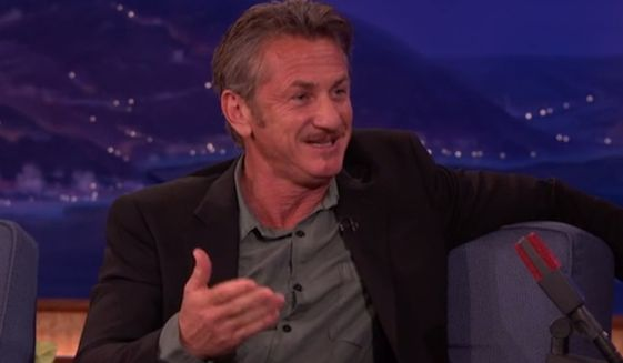 """Sean Penn sarcastically thanked former President George W. Bush and former Vice President Dick Cheney Wednesday night for supposedly """"inventing"""" the Islamic State terror group that is wreaking havoc across the Middle East. (TBS/Conan)"""
