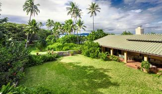"This undated photo provided by LIST Sotheby's International Realty shows a home in Waimanalo, Hawaii once used for the filming of the 1980s television show ""Magnum, P.I."" The 3-acre oceanfront property has sold for $8.7 million to a close friend of President Barack Obama. (AP Photo/Eric Mansperger/LIST Sotheby's International Realty)"