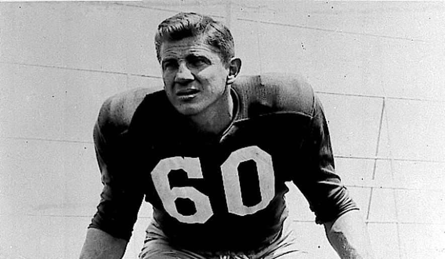 FILE - This undated photo shows Chuck Bednarik, of the Philadelphia Eagles. Bednarik, a Pro Football Hall of Famer and one of the last great two-way NFL players, has died. He was 89. (AP Photo)