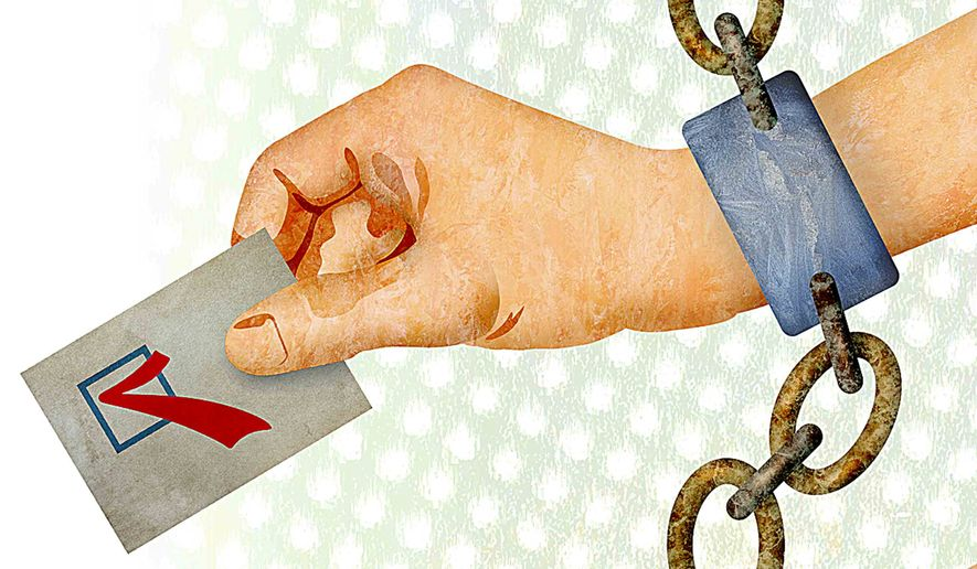 Mandatory voting illustration by Greg Groesch/The Washington Times
