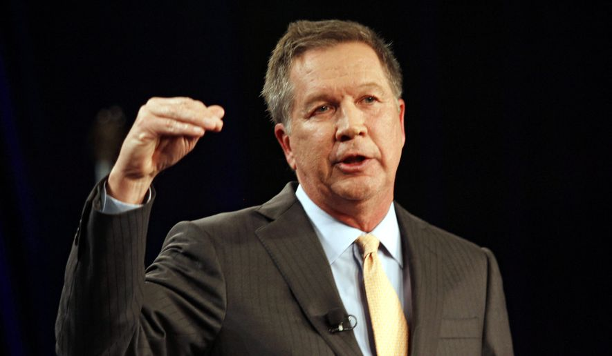 Ohio Gov. John Kasich won a landslide re-election to a second term last year, proving his popularity in a state considered pivotal for a Republican presidential candidate to win. (Associated Press)