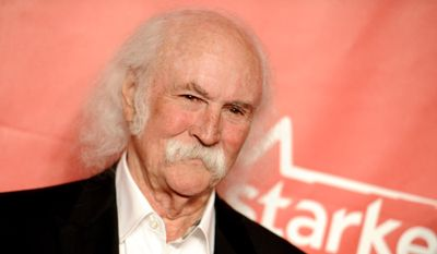 David Crosby is in the Rock Hall of Fame as a member of the Byrds and Crosby, Stills and Nash. (Associated Press)