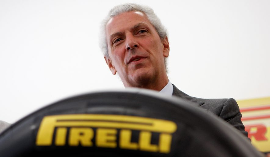 Italian manufacturer Pirelli, chaired by Marco Tronchetti Provera and famous for its tires and curve-baring calendars, will be bought by Chinese rival ChemChina. (Associated Press)