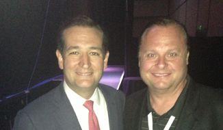 Sen. Ted Cruz and Rusty Humphries.