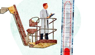 Cherry-picking statistics illustration by Greg Groesch/The Washington Times