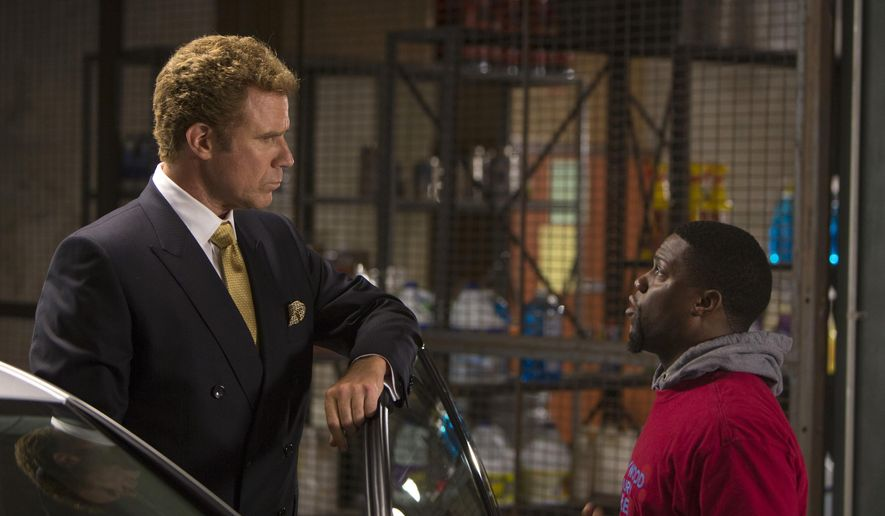 "In this image released by Warner Bros. Entertainment Inc., Kevin Hart, right, and Will Ferrell appear in a scene from ""Get Hard."" (AP Photo/Warner Bros. Entertainment Inc., Patti Perret)"