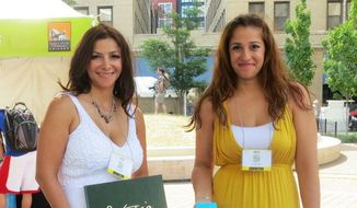 Kathy Motlagh (left) and her sister Sara Motlagh have founded ThinkVirtues Inc., an Illinois company aimed at teaching children virtues as a way to encourage good citizenship and fight bullying. (Image courtesy of ThinkVirtues Inc.)