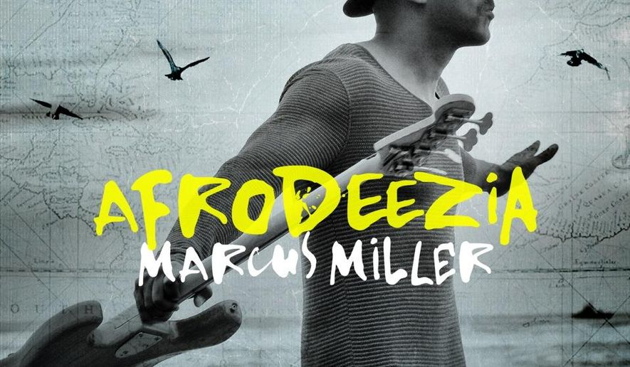 """This image released by Bluenote Records shows the CD cover for """"Afrodeezia,"""" the latest release by Marcus Miller. (AP Photo/Bluenote Records)"""