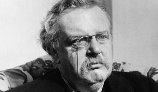 Gilbert Keith (G.K.) Chesterton author and lay theologian. (AP Photo/undated photo)