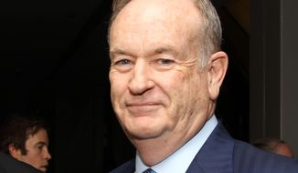 "In this Oct. 28, 2013 file photo, political commentator Bill O'Reilly attends the National Geographic Channel's ""Killing Kennedy"" world premiere screening reception at The Newseum, in Washington. (Photo by Paul Morigi/Invision/AP, File)"