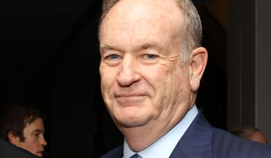 """In this Oct. 28, 2013 file photo, political commentator Bill O'Reilly attends the National Geographic Channel's """"Killing Kennedy"""" world premiere screening reception at The Newseum, in Washington. (Photo by Paul Morigi/Invision/AP, File)"""