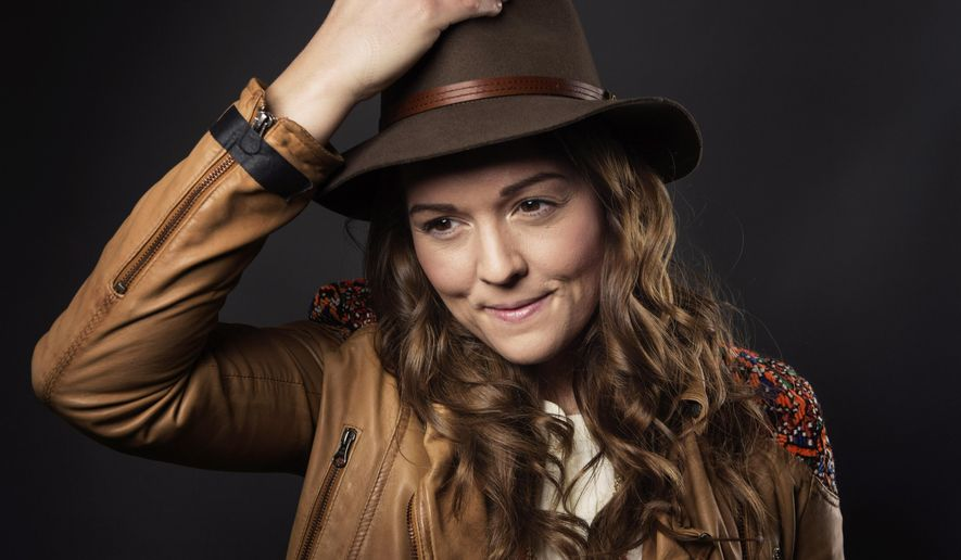 "In this March 12, 2015 photo, singer-songwriter Brandi Carlile poses for a portrait to promote her album ""The Firewatcher's Daughter"" in New York. (Photo by Taylor Jewell/Invision/AP)"
