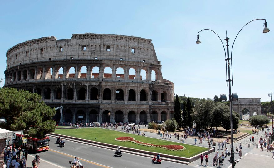 The Islamic State may be looking to turn more of Rome into ruins. (AP Photo)