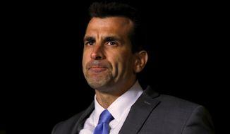 San Jose Mayor Sam Liccardo speaks during a news conference Tuesday, March 24, 2015, in San Jose, California. (AP Photo/San Jose Mercury News, Nhat V. Meyer)  ** FILE **