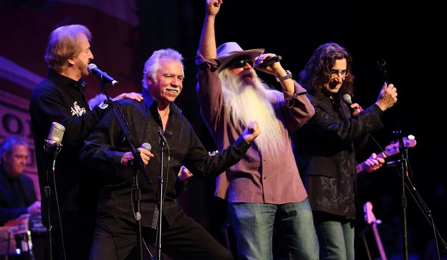FILE - In this June 5, 2013 file photo, The Oak Ridge Boys performs at Marty Stuart's Late Night Jam in Nashville, Tenn.  Vocal quartet The Oak Ridge Boys, Jim Ed Brown and his singing sisters and longtime session guitarist Grady Martin are the newest members of the Country Music Hall of Fame. The Country Music Association announced their selection on Wednesday, March 25, 2015.  (Photo by John Davisson/Invision/AP, File)