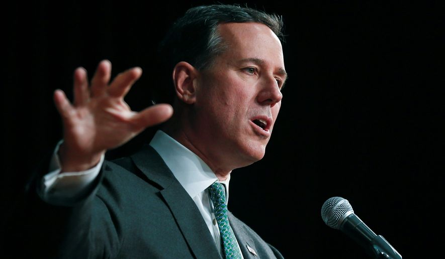 Dan Stein, president of the Federation for American Immigration Reform, said Thursday during a debate that former Sen. Rick Santorum is the strongest advocate for strict immigration in the GOP's possible presidential candidate pool. (Associated Press)