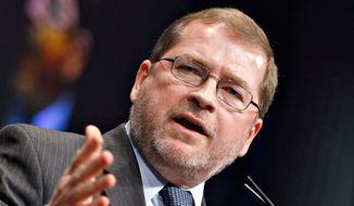 "Grover Norquist, president of Americans for Tax Reform, said, ""A handful of people are trying to decide to very badly damage or possibly destroy the Trump presidency."" (Associated Press/File)"