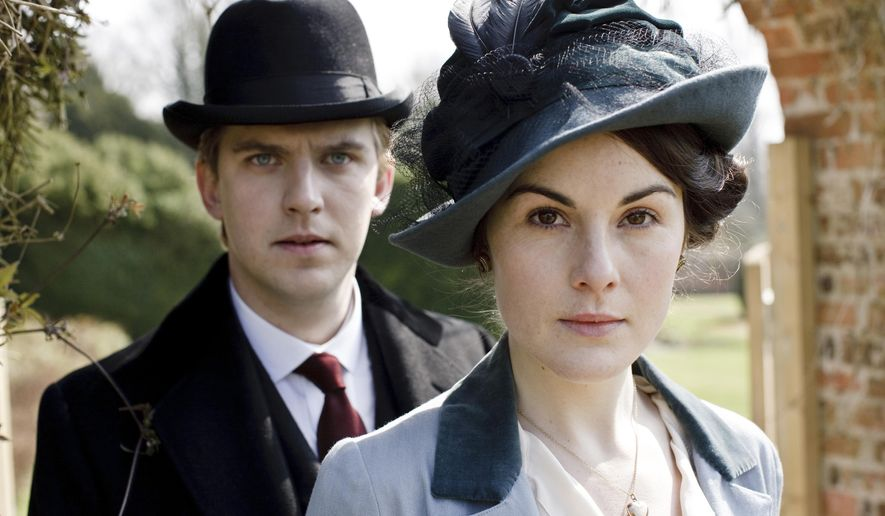"This photo provided by courtesy of MASTERPIECE shows, Dan Stevens, left, as Matthew Crawley, and Michelle Dockery as Lady Mary Crawley, in season 6 of the television series, ""Downton Abbey."" While announcing on Thursday, March 26, 2015, that next season's ""Downton Abbey"" will be its last, executive producer Gareth Neame declined to say who among the Crawley clan and staff will survive until the series' final fade-out. (AP Photo/Courtesy MASTERPIECE)"