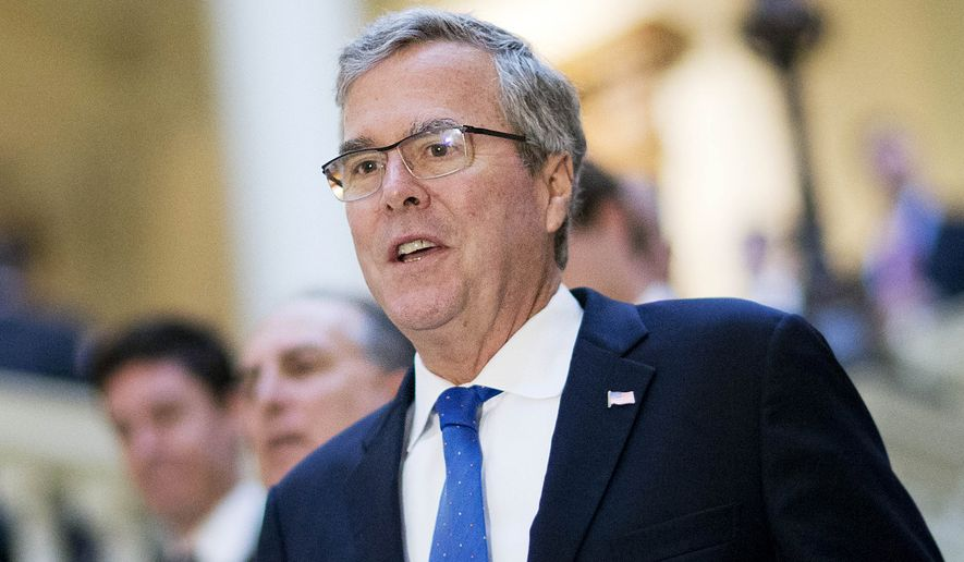 Former Florida Gov. Jeb Bush visits the Georgia Capitol in Atlanta in this March 19, 2015, file photo. (AP Photo/David Goldman, File)