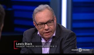 "Comedian Lewis Black said on ""The Nightly Show"" Tuesday that even the LSD he took in his youth couldn't have prepared him for Republican Sen. Ted Cruz entering the 2016 presidential race. (Comedy Central)"